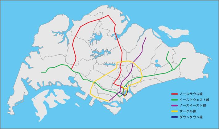 シンガポール不動産 シンガポール路線図01